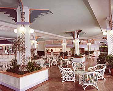 Lobby of the Treasure Island Resort in the Cayman Islands